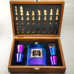 ست فلاسک هفت رنگ شطرنج دار