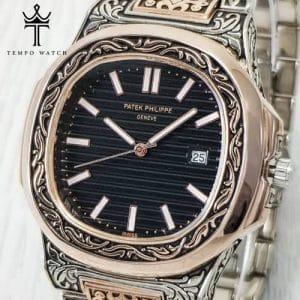 ساعت مچی پتک فیلیپ مدل بند حکاکی | PATEK PHILIPPE